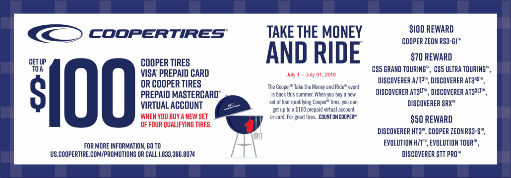 Up To 100 Reward When You Buy A New Set Of Four Qualifying Tires
