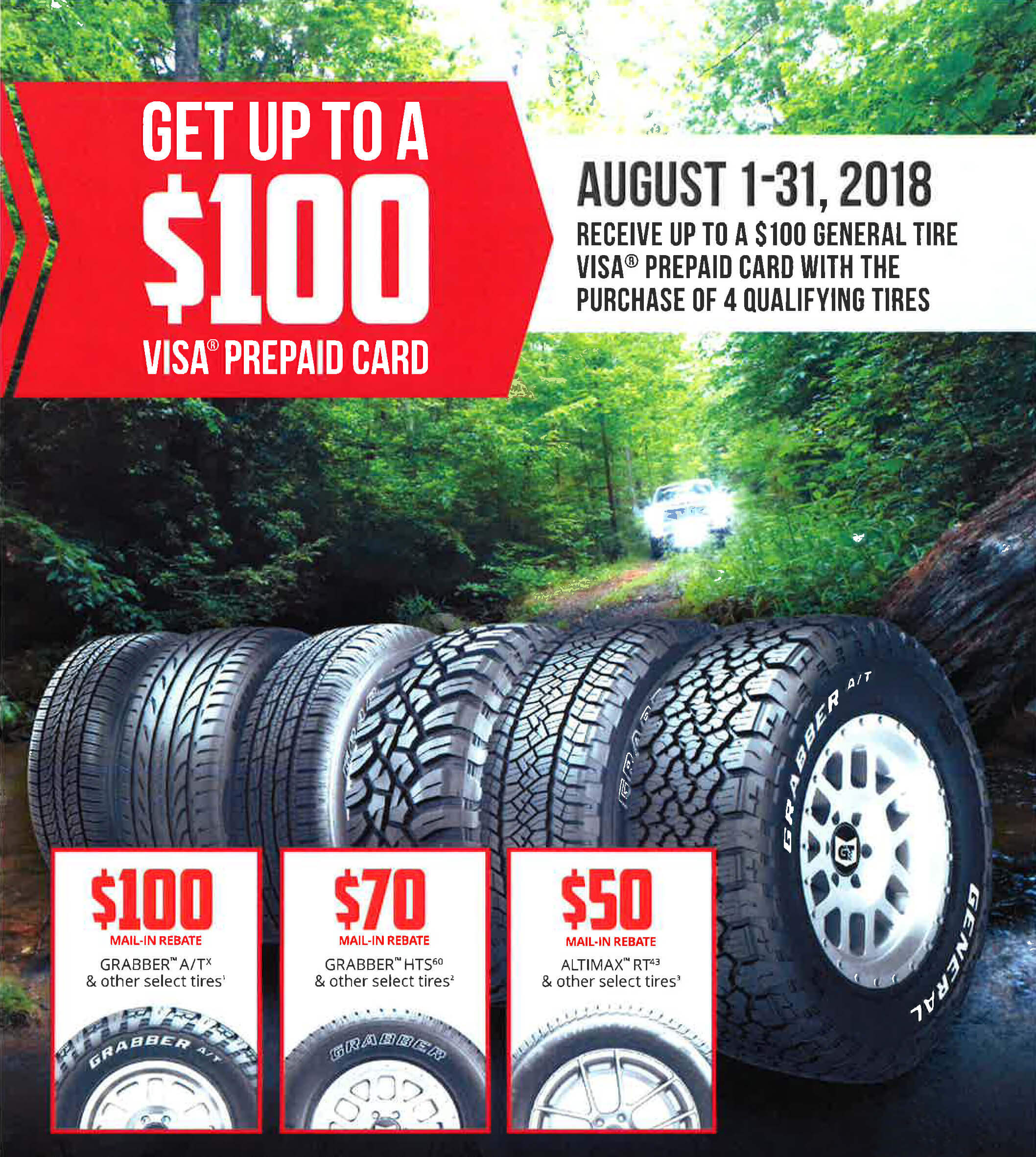 Up To 100 Reward With The Purchase Of Four Qualifying Tires
