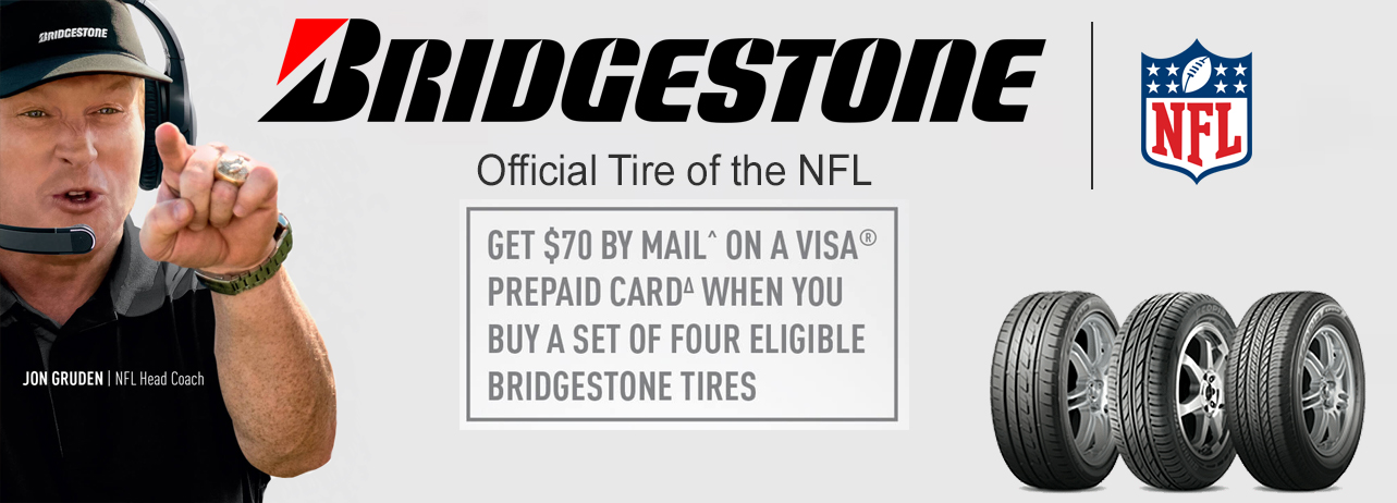 70 Rebate With Set Purchase Of Four Eleigible Bridgestone Tires