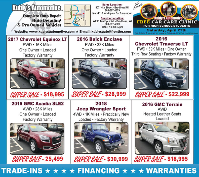 New Pre Owned Vehicle Super Sales Kubly S Automotive