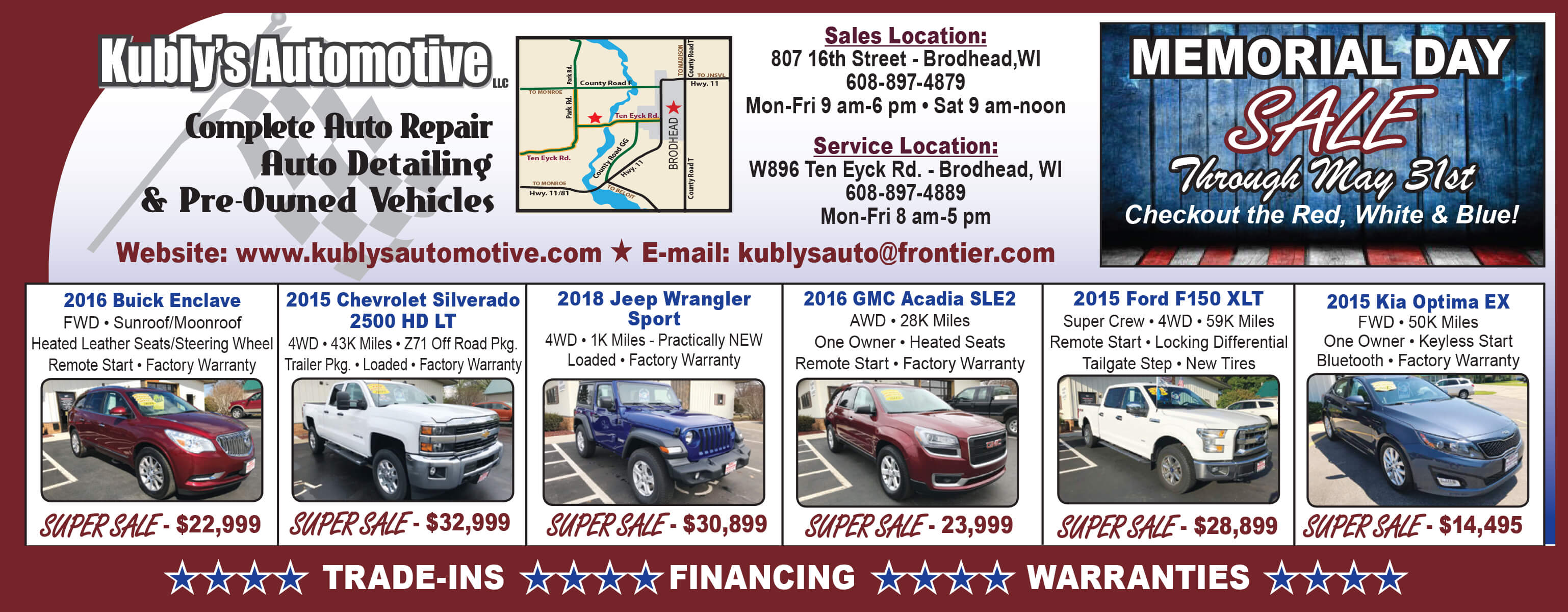 Memorial Day Car Sale >> Memorial Day Sale Through May 31st Pre Owned Vehicle Super